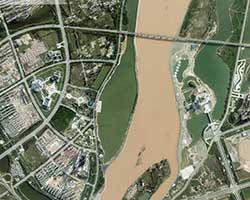 黄河河道航空摄影