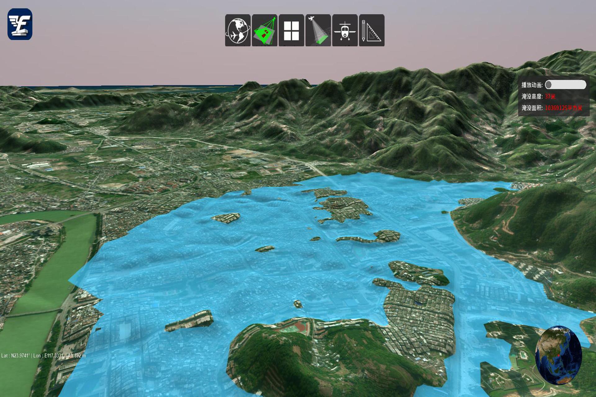 通过航空遥感来监测水质污染物质