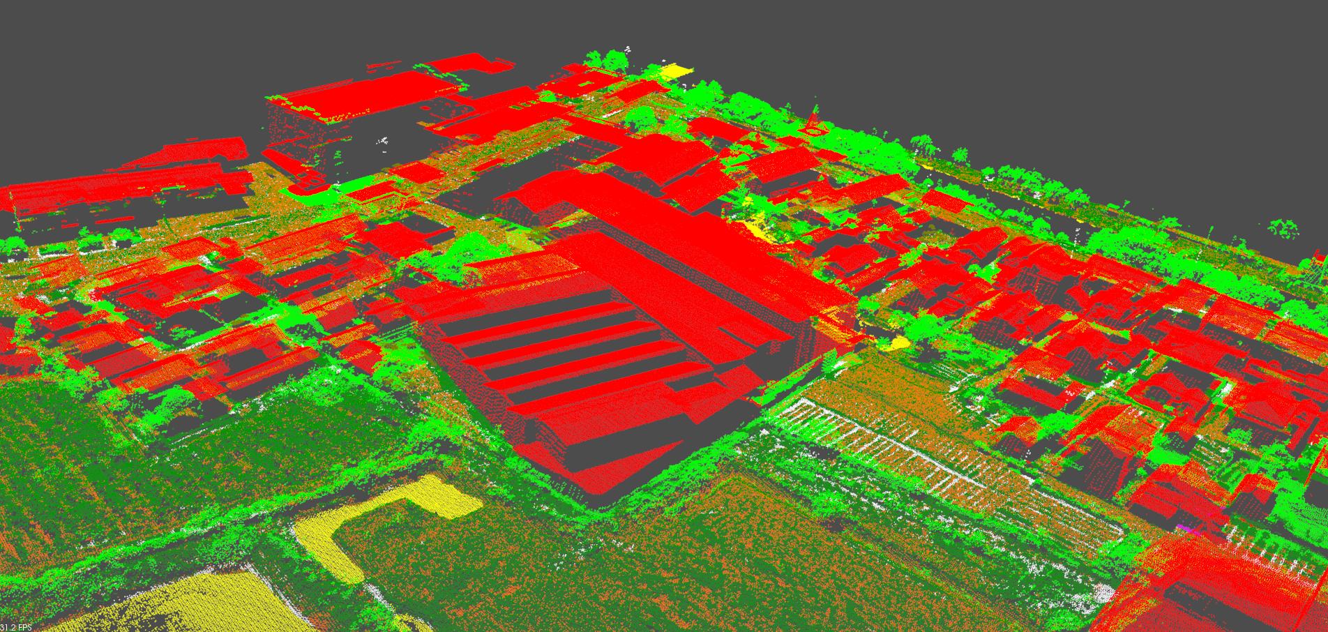 激光点云数据建筑物分类提取