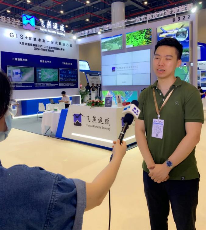 飞燕遥感总经理赵梓言接受湖北电视台采访